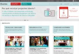 Captura de pantalla de la plataforma Goteo.org. Font: Goteo.org