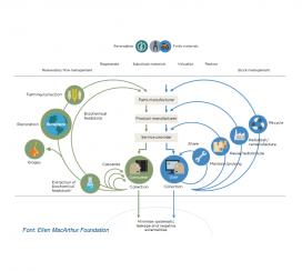 Un altre gràfic, en anglès, que explica l'economia circular