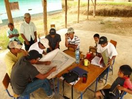 Grup de treball d'un projecte a Guatemala finançat amb el Fons de Solidairtat (Font: FAS)