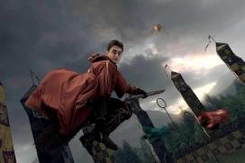 Imatge d'un partit de Quidditch de Harry Potter