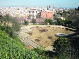 Una vista dels terrenys que ocuparan els horts