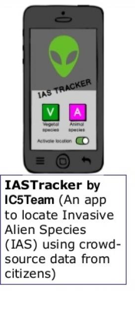 Aplicació pel mòbil dóna accés al  geoportal (imatge:iastracker)