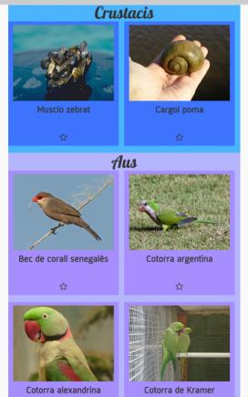L'aplicació aporta una fitxa de cada espècie (imatge:iastracker)