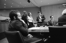 Membres de l'ICAN a l'Assemblea General de les Nacions Unides.