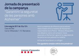 """Anunci de la jornada on s'ha presentat la campanya """"Garantint la seguretat de les persones amb Alzheimer"""""""