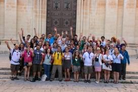 Joves participant a una trobada d'escoltisme europeu a Malta.