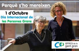 El dia 1 d'octubre es realitzaran diferents actes per commemorar el Dia Internacional de la Gent Gran. (Font: Amics de la Gent Gran)