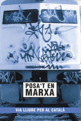 Imatge calendari promocional voluntariat lingüístic UdL 2003. Font: UdL