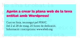 Curs: Crea la plana web de la teva entitat amb WordPress