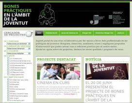 Imatge web bones pràctiques en l'àmbit de la joventut
