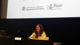 Intervenció de Gemma Sendra, directora executiva de la Fundació Catalunya Cultura, durant la jornada. Font: Suport Associatiu
