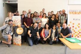 Grup de dinamitzadors/ores a la Jornada de dinamització de la Internet Social 2017