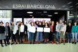 Grup de dones participants en els programes de Barcelona Activa d'acompanyament i enfortiment de projectes liderats per dones.