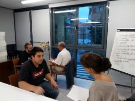En Pere participa en una formació per ser mentor laboral.