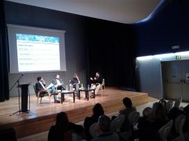 D'esquerra a dreta, Albert Segura, Carlos Villagrasa, Anna Maria Novella i Karlos Castilla, en el debat de dijous 16 de novembre
