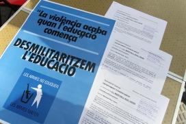 Desmilitaritzem l'Educació és una plataforma formada per prop de 70 entitats. Font: Desmilitaritzem l'Educació