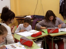 Taller CROMA a l'escola Juan Ramón Jiménez (Sabadell). Font: FAS