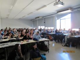 Aula plena a una de les sessions (Font: FAS)