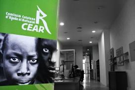 Imatge de l'oficina de la Comissió Catalana d'Ajuda al Refugiat