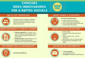 Informació de la quarta edició del Concurs d'idees innovadores per a reptes socials