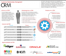 Infografía sobre CRM. Autor Haks.