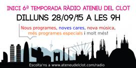 Banner 6a temporada (font: Ràdio Ateneu del Clot)