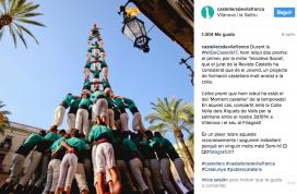 Una foto de l'Instagram dels Castellers de Vilafranca