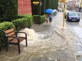 Inundació a Figueres. Foto: Direcció General de Protecció Civil de la Generalitat.