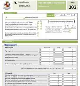 Model 303 liquidació de l'IVA