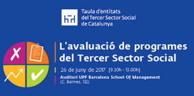 Jornada sobre 'L'avaluació de programes del Tercer Sector Social'. Font: Taula d'Entitats del Tercer Sector