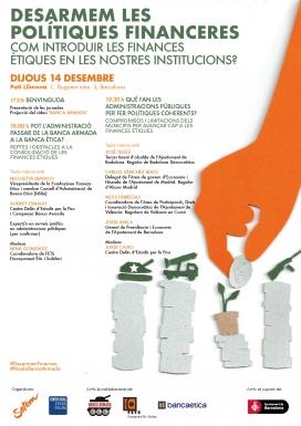 Jornada sobre la introducció de les finances ètiques en les institucions