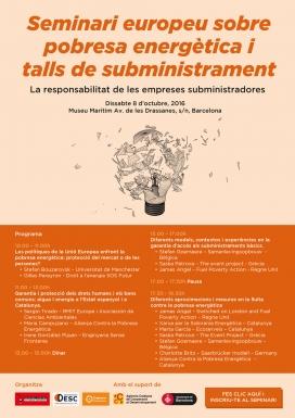 El seminari se celebrarà el 8 d'octubre a Barcelona. Font: APE