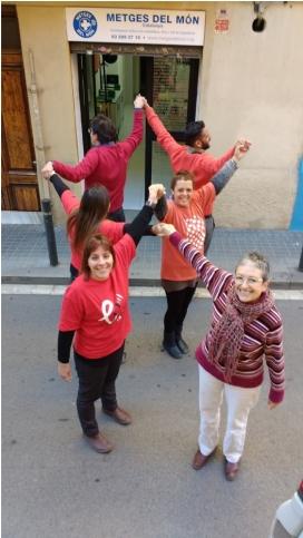 L'equip de Metges del Món Catalunya. A la dreta de l'imatge, Josefina Díaz. Font: MdM