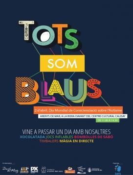 Cartell promocional 'Tots junts som blaus' - Foto: Ajunts