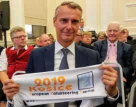 Un membre de la candidatura de Kosice 2019.