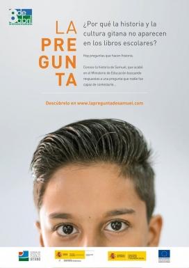 Cartell de la campanya La pregunta de Samuel, que mostra la cara del noi