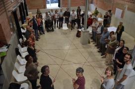 Participants a la sessió informativa del primer trimestre 2018 de La Troca