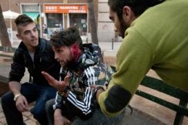 Ivan Jiménez acusa l'agent antiavalot de partir-li l'orella mentre anava en bici pel barri de Sants durant els aldarulls