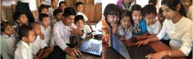 Moltes escoles de països asiàtics també reben material informàtic