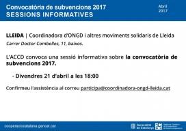 Sessió informativa sobre convocatòries de subvencions ACCD 2017 - Foto: ACCD