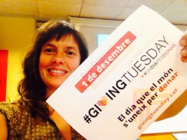 Laia Bernués participant al Giving Tuesday.