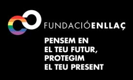 Lema Fundació Enllaç: Pensem en el teu futur, protegim el teu present