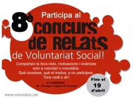 Cartell del 8è Concurs de Relats de Voluntariat Social