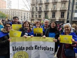 Diumenge passat, a la reivindicació a Barcelona - Foto: Lleida pel Refugiats