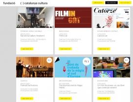 Llotja de projectes a la web de la Fundació Catalunya Cultura. Font: Fundació Catalunya Cultura