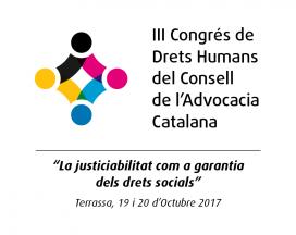 El logotip del III Congrés de Drets Humans