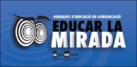 Logotip de les Jorandes d'Educació en Comunicació: Educar la Mirada