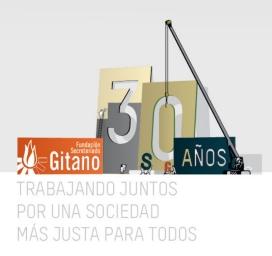 Logotip dels 30 anys de la Fundación Secretariado Gitano
