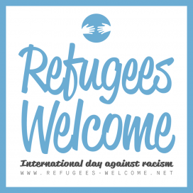Logo Refugees Welcome.