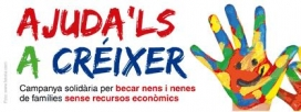 Logo campanya Ajudals a créixer